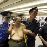 Feminist group FEMEN protest in Kiev, Ukraine