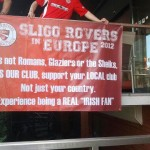 striscione tifosi Sligo support your local club