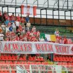 tifosi Sligo Rovers in slovacchia vs Spartak Trnava  luglio 2012