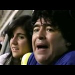 La 12 coro per Diego Armando Maradona al Boca Juniors