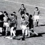 "World Cup Finals, 1962. Santiago, Chile. 2nd June, 1962. Italy 0 v Chile 2.  English referee Ken Aston tries to bring order after fighting broke out between Italian and Chilean players during their group two match dubbed as ""The Battle of Santiago"".  Chile"