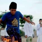 indonesia pallone infocato calcio