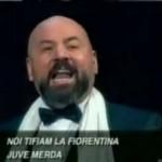 Viola, canzone da stadio Juve merda con musica lirica