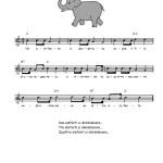 un elefante si dondolava
