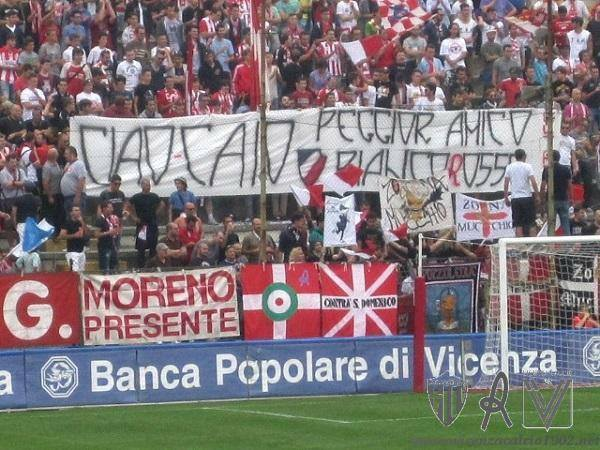 striscione_caio_ultras_vicenza_peggioramico