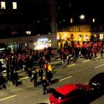 Cori degli ultrà del Galatasaray in corteo a Copenaghen 5.11.13
