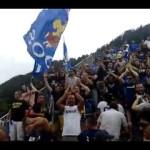 Coro argentino degli ultras in Prato vs Inter a Pinzolo 2014
