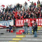 Perugia: stendardo ACAB Curva Nord