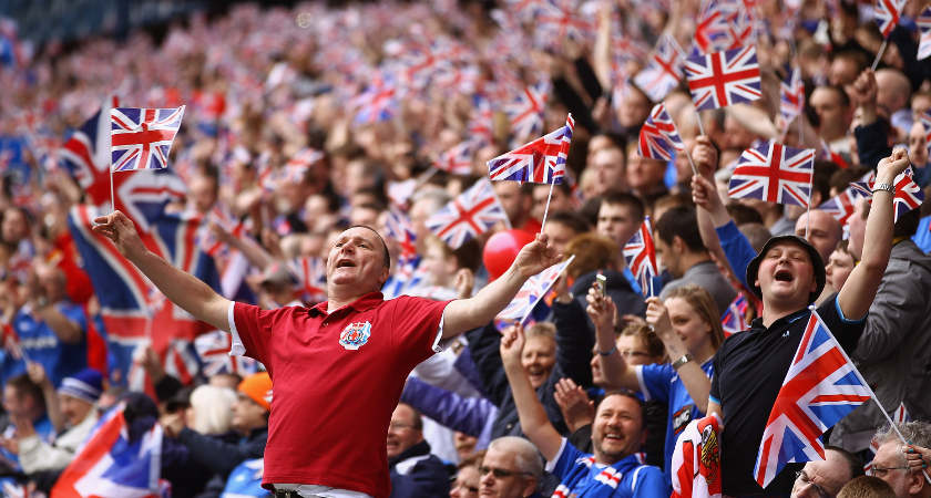 rule britannia rangers coro